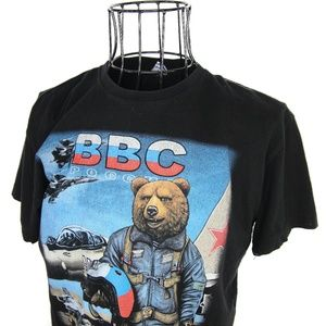Vintage Russian Air Force Graphic T Shirt